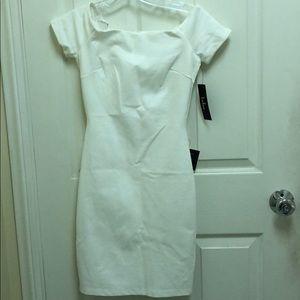 Midi white Lulus dress.